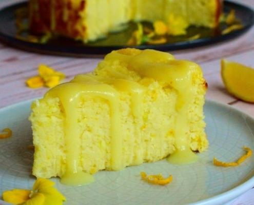 Prăjitură cu Iaurt, Lămâie și Cocos - Vegană și Fără Gluten